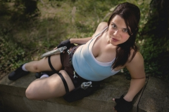 Lauren Clover at the Tomb Raider inspired Photo Shoot